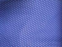 Tissu coton imprimé bleu